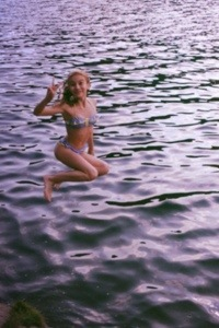 Hannelius recently tweeted a picture of herself jumping into echo